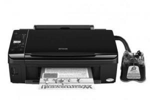 принтер, мфу, epson, епсон,  Stylus NX420 refurbished, дешевая упаковка, 3 в 1,